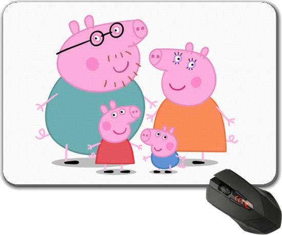 mouse pad peppa pig e turma - frete gratis - família peppa