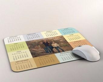 mouse pad personalizado imagen foto texto calendario 2019
