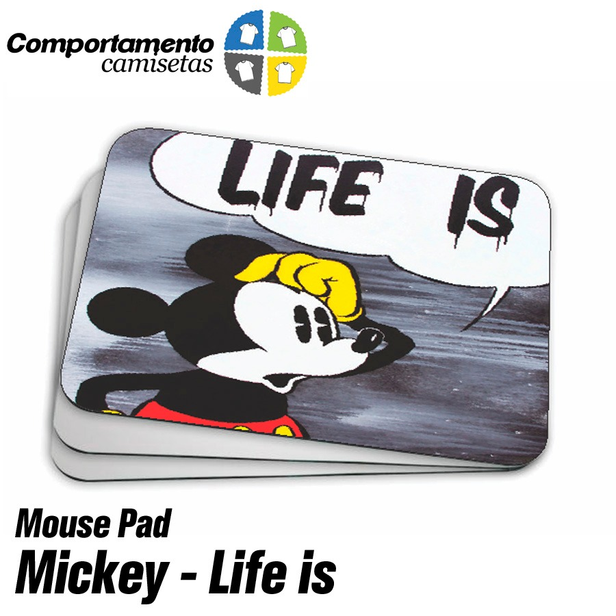 84db267ff mouse pad personalizado - mickey mouse - life is. Carregando zoom.