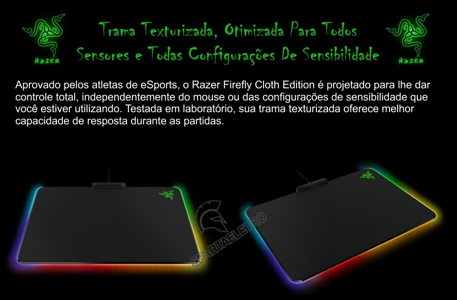 Mouse Pad Razer Firefly Chroma Cloth Edition -caixa Lacrada - R$ 348 ...