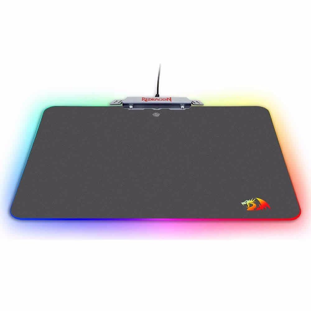 Mouse Pad Redragon Kylin P008 Led Rgb Rigido Chroma Gamer