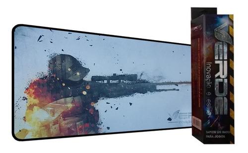 mouse pad tapete gamer 70x35cm estampa counter strike pc