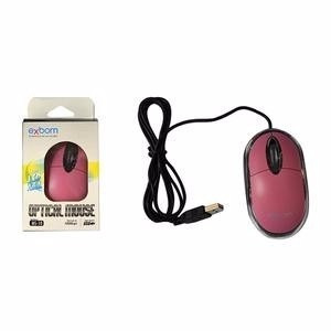 mouse para computador óptico usb windows exbom  led pc rosa