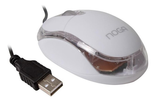 mouse pc cable usb laptop notebook noga ng-611 luminoso colores