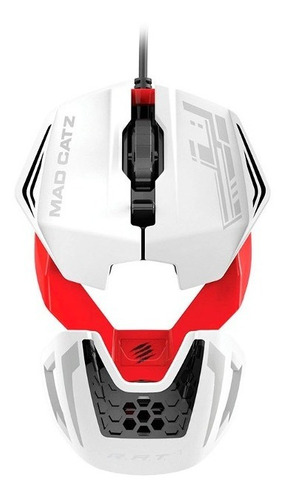 mouse r.a.t.1 gaming white/red mad catz