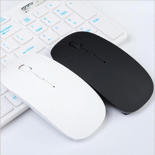 mouse raton inalámbrico wireless flat colores usb