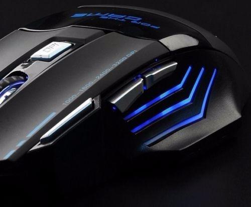 mouse raton pro gamer experto gaming 7 botones 7200 dpi usb