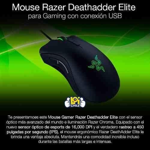 mouse razer deathadder elite gamer loi chile