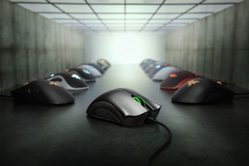 mouse razer deathadder essential 6400 dpi  green light