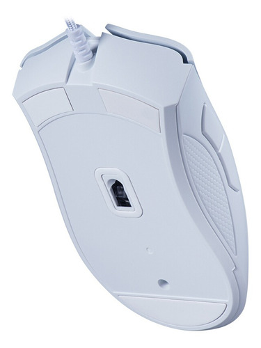 mouse razer deathadder essential wired gaming 6400dpi branco