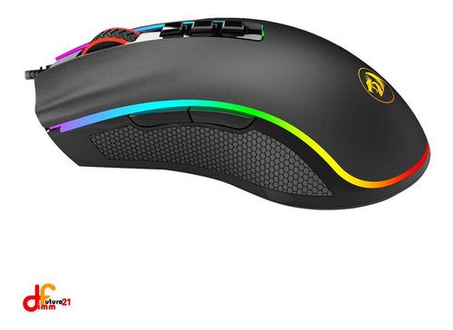 mouse redragon cobra usb rgb colores dimm
