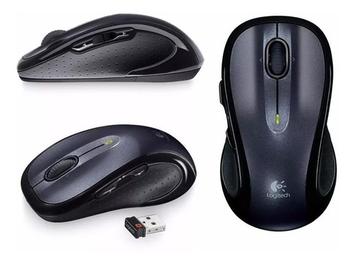 mouse sem fio logitech m510 unifying preto wireless + nfe