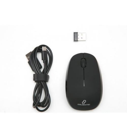 mouse sem fio recarregável gt compact goldentec c/ aviso led
