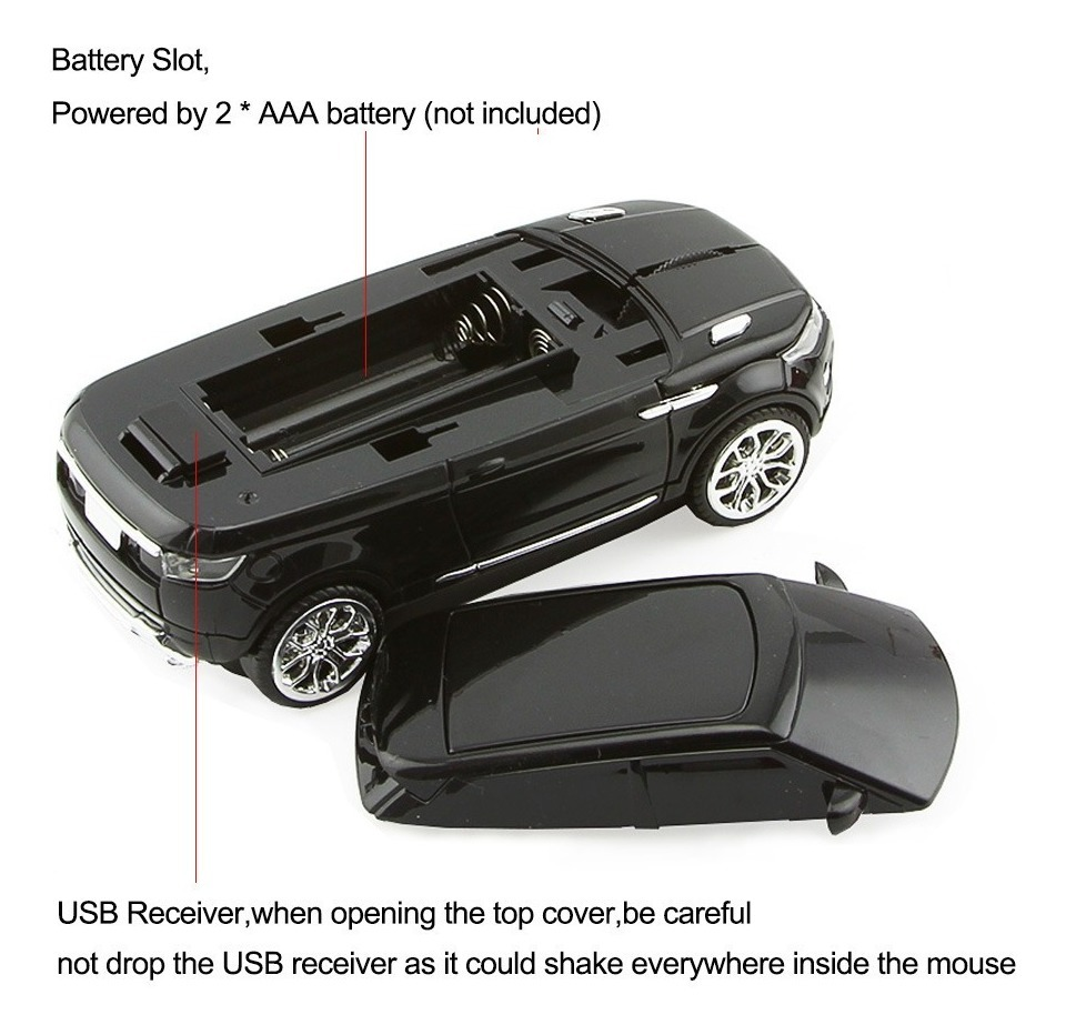 Mouse Suv Wireless Em Forma De Carro Para Notebook/ Pc/ Mac
