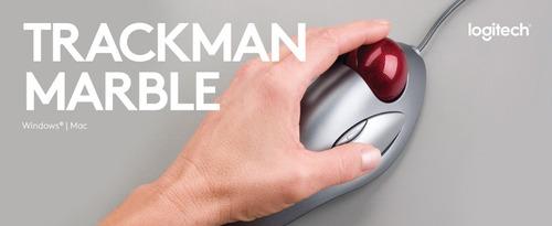 mouse trackball - logitech trackman marble usb - ambidiestro