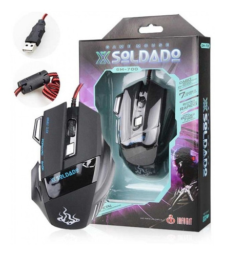 mouse usb gamer exbom 7d extreme gm-700
