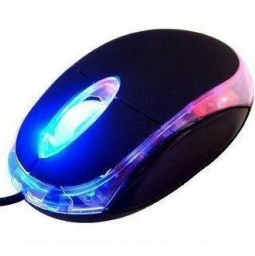 mouse usb luminoso color negro  netmak nm-m01