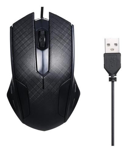 mouse usb optico ergonomico negro wired scroll envío gratis