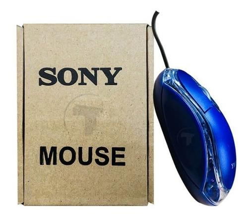 mouse usb optico sony  led azul