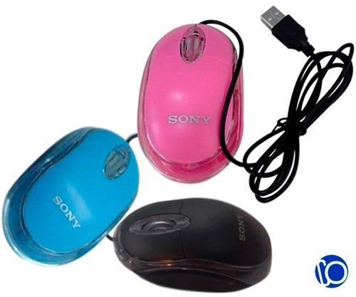 mouse usb sony optico alambrico para laptop computatoras pc