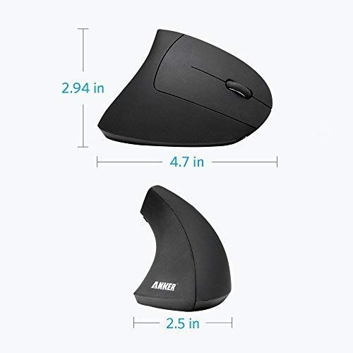 mouse vertical - anker - inalambrico - 800 / 1200 /1600 dpi