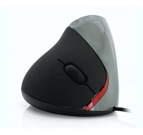 mouse vertical ergonómico con 5 botones evita túnel carpiano