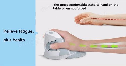 mouse vertical ergonomico delux premiun