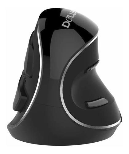 mouse vertical ergonómico inalámbrico delux m618 plus 6 keys