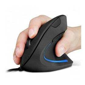 Mouse Vertical Ortopédico Ergonómico Alámbrico Negro