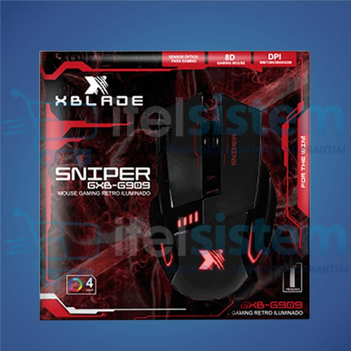 mouse xblade gaming sniper g909 3200 dpi usb red itelsistem