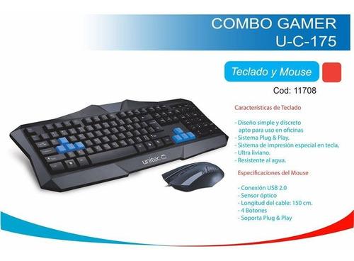mouse y teclado gamer unitec u-c-175