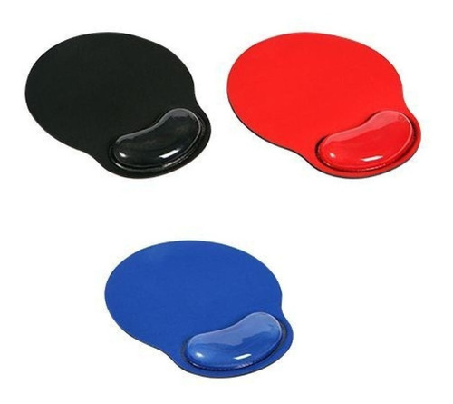 mousepad con gel azul-rojo-negro- netmak - aj hogar