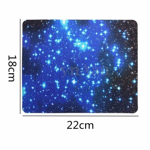 mousepad de computadora diseño espacial galaxy mide 22cm