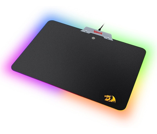 mousepad gamer rígido rgb backlight redragon p011 orion