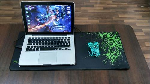 mousepad gamer xl version speed suave , 100% caucho 70x30cm