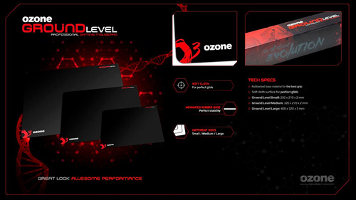 mousepad ozone gaming groung level s new desing