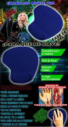 mousepad slim increíble  ergonómico evita sindrome carpiano