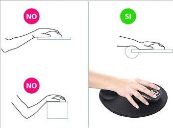mousepad soporte gel ergonómico edición slim evita carpiano