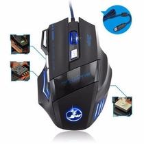 Mouse Gamer Pro Zelotes 5500 Dpi 7 Botones Led Usb