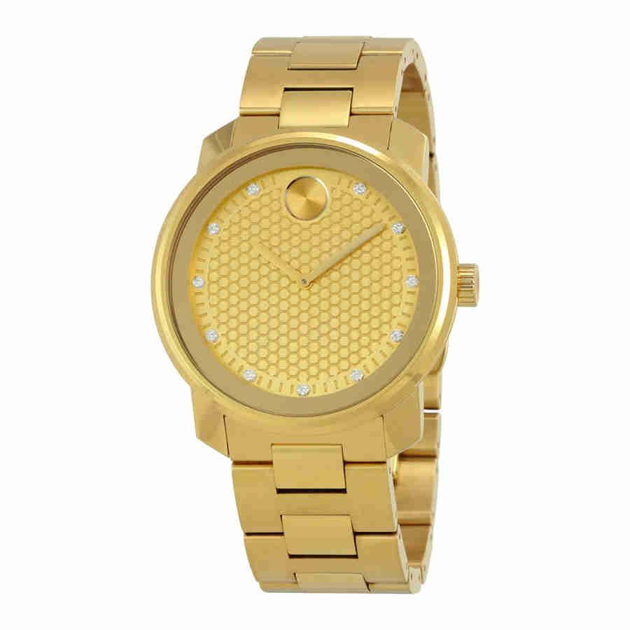 05b842c9c419 Movado Bold De Oro Amarillo Y Diamantes De Línea De Cuarzo -   4.099.550 en  Mercado Libre