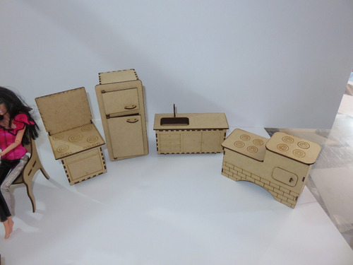 móveis para casinha da barbie   25 moveis ( brancos )