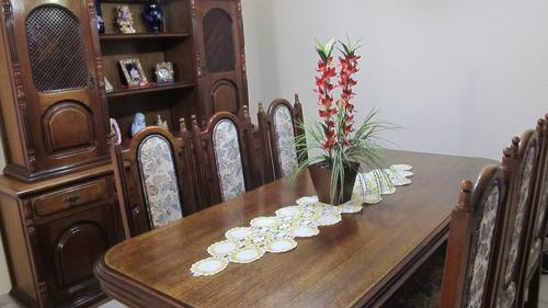 Sala De Jantar Madeira Macica ~ Móveis Sala De Jantar Mesa E Arca Cerejeira Madeira Maciça  R$ 19