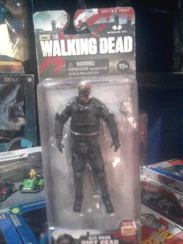 movie maniacs walking dead zombi polícia riot mcfarlane toys