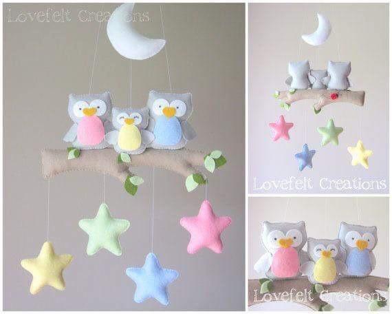 Movil colgante decoraci n cuarto cuna bebe en mercado libre - Movil para cuna bebe ...