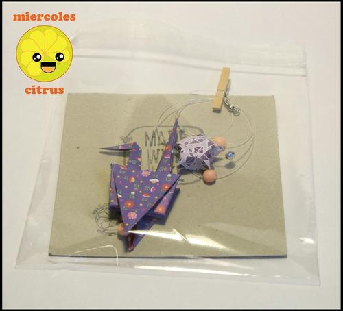 movil colgante grullas de papel de origami souvenir
