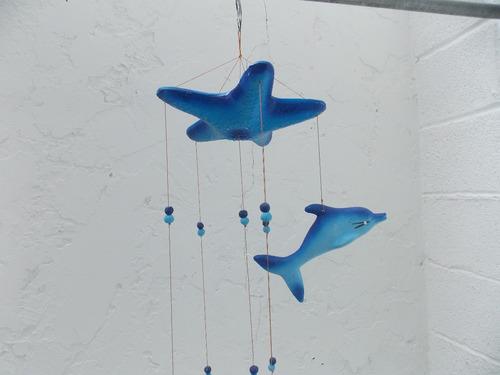 movil colgante motivo marino estrella de mar y delfines