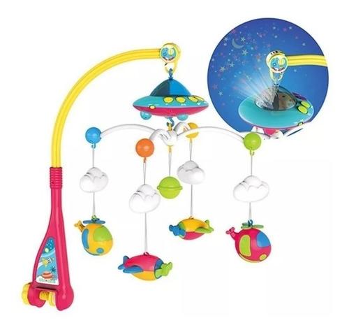 movil cuna bebe musical con proyector y control remoto