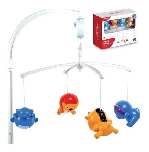 movil cunero musical juguete bebes cuna 4 muñecos babymovil