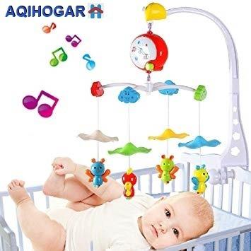 movil de cuna musical para bebe