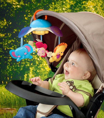 movil jirafa musical fisher price para cuna, moises y coches